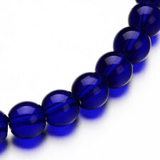 Transparent Glass Beads 4mm Deep Royal Blue - 1 Strand Approx 80 Beads - BD1099