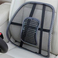 Massage Vent Mesh Lumbar Lower Back Brace Support Car Seat Chair Cushion Pad I2