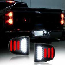 2X LED License Plate Light Red Tube DRL For Chevy Silverado GMC Sierra 1500 2500
