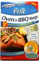 8pk Foil Oven & BBQ Bags Grill Meat Chicken Fish Foil Seal Fresh Cooking