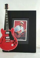 CHUCK BERRY Miniature Guitar Frame Gibson ES 335 RIP