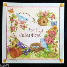 Leanin Tree Valentine Card Valentine's Day Romance Love Birds Flowers V32