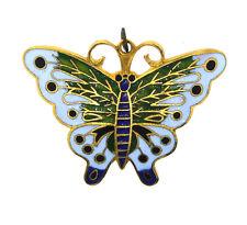 Lovely Cloisonne Enamel Butterfly Pin!