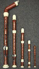 Wood Simulated3(knob gold/Ivory) Recorder Set/Bass/Tenor/Alto/Soprano/Sopranino