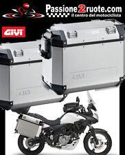 2 Valigie Laterali Givi Trekker Outback 37 + PL3101CAM Suzuki V-strom 650 11-13