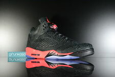 2014 Nike Air Jordan Retro 5 V 3Lab5 Infrared DS Size 10.5 Black Red Cement