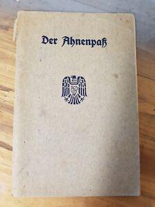 Ahnenpass Reichsbund Standesbeamte