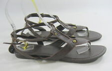 Summer NEW  BROWN  WOMEN SHOES ROMAN GLADIATOR  SANDALS  SIZE 10  p