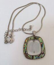 Lia Sophia HIGH TIDE Necklace NWOT Ret $38 Abalone Cat's Eye