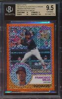 2018 Topps Francisco Mejia Orange RC Refractor Silver Pack 1983 Chrome BGS 9.5
