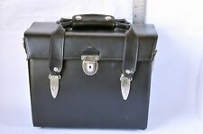 """Vintage Black Heavy Duty Leather Camera Bag Made In USA 12X9X6"""""""
