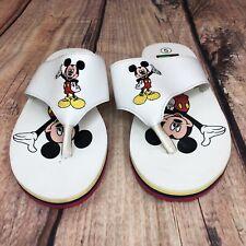 Disney Mickey Mouse Flip Flops Women Size 5 Thong Sandals NEW