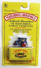Matchbox Originals Aveling Road Roller 1993 #1 Limited Edition Collectors Series
