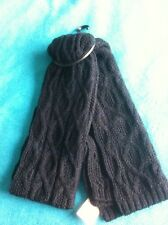 Topman Scarf New Black Ribbed Warm Knitted Cable Navy Tweed Mix