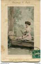 CPA -Carte postale-FRANCE- Fantaisie  Heureux 1er Avril - 1913 (F107)