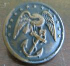 pre civil war military 13 star  raised boarder Officer's coat button Waterbury for sale