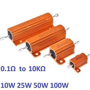 10W 25W 50W 100W RX24 Aluminum Metal Shell High Power Case Heatsink Resistor 5%