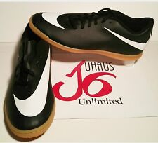 Nike Bravata IC Men  Round Toe Leather Soccer Shoe...!