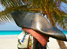 JACK SPARROW LEATHER TRICORN HAT PIRATE TRICORNER