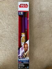 STAR WARS BLADEBUILDERS MACE WINDU LIGHTSABER PURPLE HASBRO DISNEY IN HAND!
