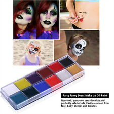 Body Face Paint Make-Up Party Kit Halloween Costume Fancy Dress Kids Adults SG