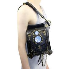 Steampunk PU Leather Waist Leg Bag Hip Motorcycle Punk Messenger Shoulder Pack
