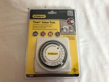 New Stanley 38448 Timelt Indoor Twin 2 outlet 24 hour mechanical timer