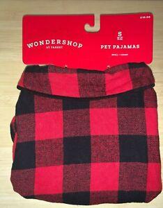 Wondershop Check Red Plaid Pet Pajamas