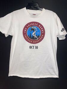 VINTAGE 90s Nike Lasalle Banks Chicago Marathon T Shirt Large
