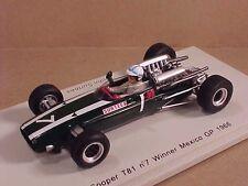 Spark 1/43 Resin Cooper T81, Winner 1966 Mexico GP, #7, John Surtees  #S3521