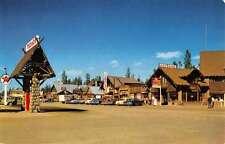 West Yellowstone Montana Cabin Street View Texaco Vintage Postcard K22795