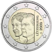Luxemburg 2 Euro 2009 Großherzogin Charlotte und Erbherzog Guillaume bankfrisch