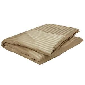 Gingerlily London Fraser Modern Brown Stripe Sand SILK QUEEN Duvet Cover $800