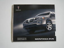 2006 PONTIAC MONTANA SV6 OWNERS MANUAL PERSONALIZATION AND INSTRUCTIONAL CD