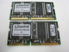 x2 Kingston 128mb Ram Kth-Ob4150/128 for Laptop Notebook Random Access Memory