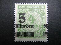 Germany 1923 ERROR Stamp MNH Wmk Overprint Surcharged Deutsches Reich German Deu
