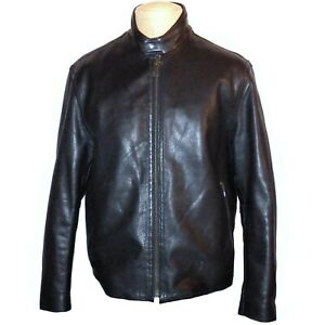 Andrew Marc New York Designer Black Genuine Leather Racing Moto Jacket Large L