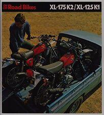 1975 HONDA XL175 K2 & XL125 K1 SALES BROCHURE & POSTER Motorcycle