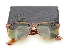 Vintage B&L Ray Ban Bausch & Lomb RB3 Green Blonde Tortoise Wayfarer II w/Case