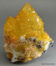 Spirit cactus quartz yellow Goethite cactus quartz jaune quartz Mpumalanga Afrique du sud