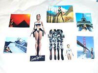 Eidos Tomb Raider Lara Croft Adventures Postcards and Cutouts Collectibles