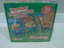 Lakeshore Alphabet Sequencing Puzzle Monkey 20 Jumbo Pieces NEW FREE SHIP!!!