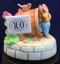 Schmid Beatrix Potter 100 Year Anniversary Music Box Peter Rabbit Cottontail