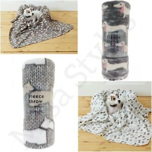 NEW LARGE EXTRA SOFT WARM COSY FLEECE PET DOG CAT BED ANIMAL BLANKET THROW