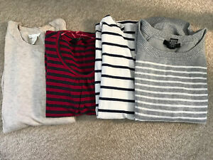 Four Maternity Tops/jumpers 3/4 Sleeved Size Smal/XS
