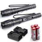 2 Sets Ultrafire 6000 Lumens 5Modes CREE XML T6 LED Flashlight 18650+Charger