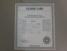 Danbury Mint Paperwork 1957 Studebaker Golden Hawk Coupe
