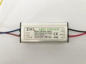50W LED Driver Power Supply Waterproof 1500mA±5% DC 27V - 38V For Floodlight DIY