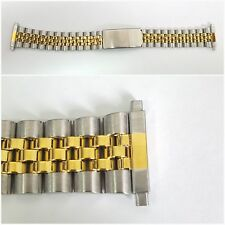 GOLD / SILVER 18-22 STAINLESS STEEL JUBILEE WATCH BRACELET STRAPS MEN'S