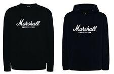 Felpa Marshall amplification nera con o senza cappuccio unisex musica suono rock